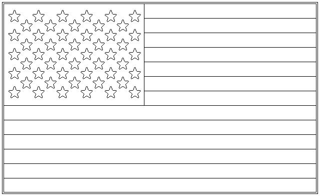 united states flag template free american flag printable coloring pages - Flag Coloring Pages