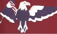 American Eagle holding an American Flag